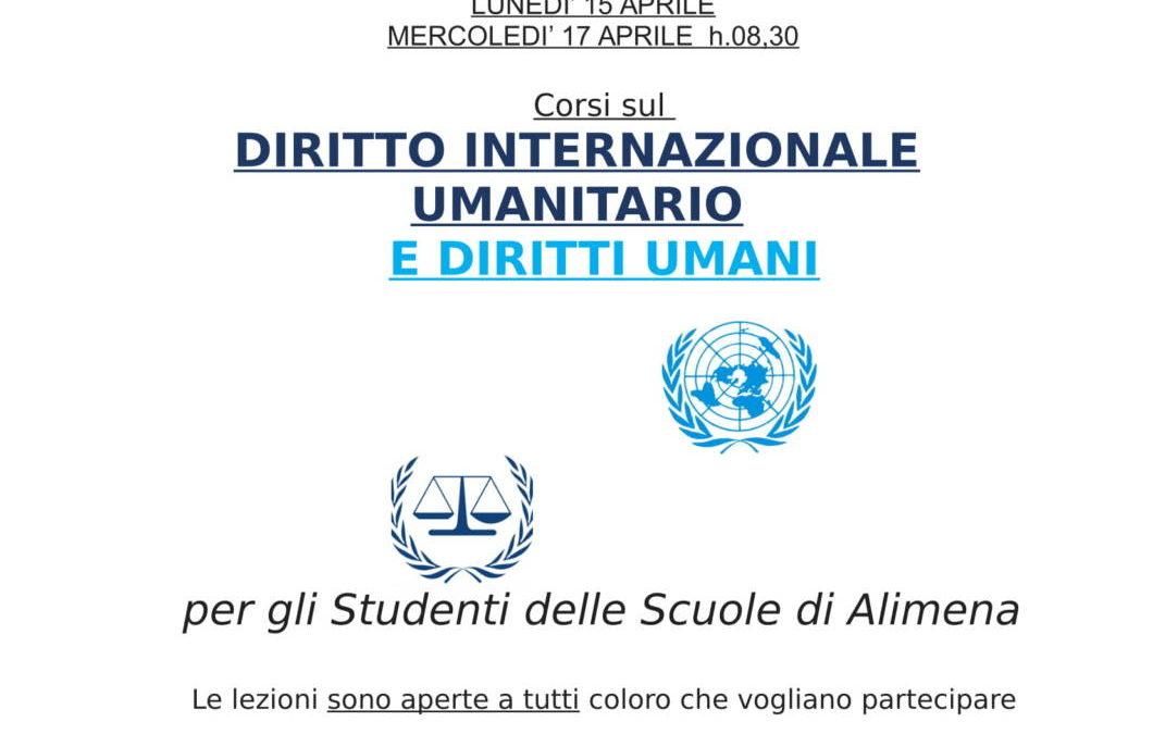 """CORSI DI DIRITTO INTERNAZIONALE UMANITARIO E DIRITTI UMANI  PRESSO LA BIBLIOTECA """"FILIPPO VALENZA"""" 13-17 APRILE"""
